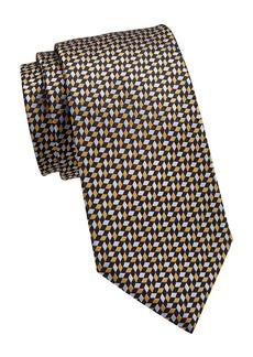 Ermenegildo Zegna Chevron Neat Silk Tie