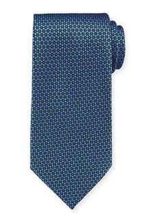 Ermenegildo Zegna Connected Flowers Silk Tie  Blue