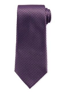 Ermenegildo Zegna Connected Flowers Silk Tie  Purple