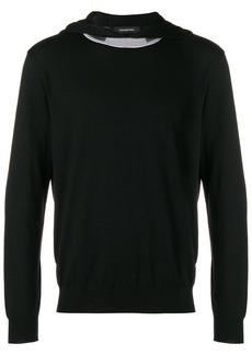 Ermenegildo Zegna contrast-collar hooded sweatshirt