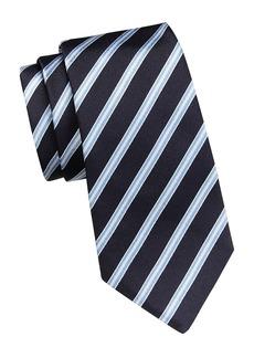 Ermenegildo Zegna Diagonal Stripe Silk Tie