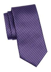 Ermenegildo Zegna Diamond Stripe Silk Tie