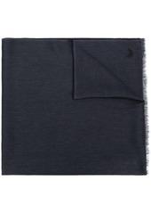 Ermenegildo Zegna embroidered logo scarf