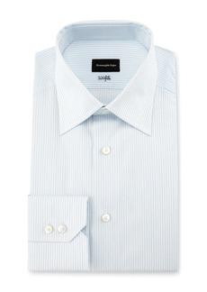 Ermenegildo Zegna 100Fili Fine-Stripe Dress Shirt