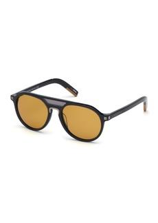 Ermenegildo Zegna Acetate Aviator Sunglasses