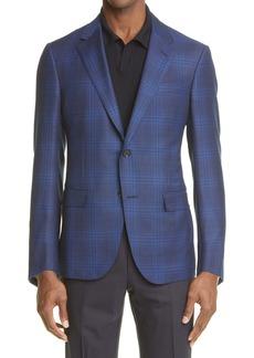 Ermenegildo Zegna Achillfarm Glen Plaid Merino Wool & Silk Blazer