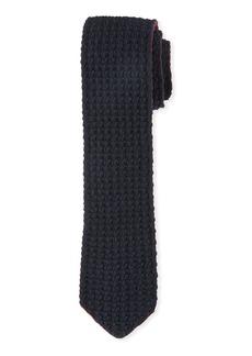 Ermenegildo Zegna Cashmere Knit Tie  Red