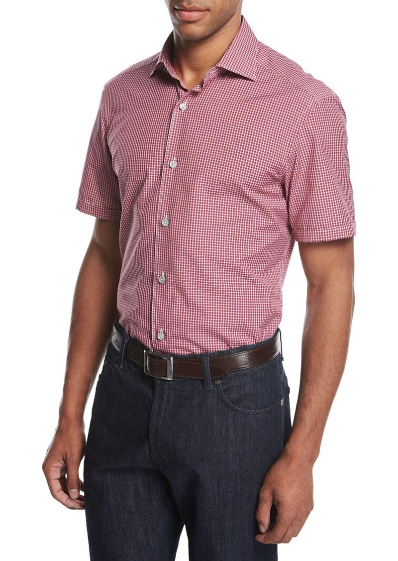 Ermenegildo Zegna Ermenegildo Zegna Check Short Sleeve Shirt