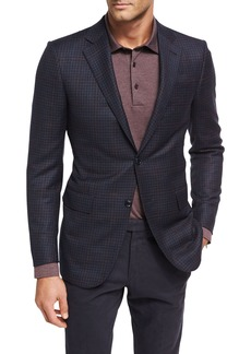 Ermenegildo Zegna Check Trofeo® Wool Two-Button Sport Coat