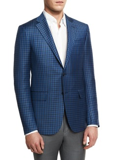 Ermenegildo Zegna Check Two-Button Sport Coat
