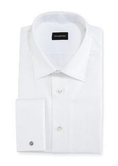 Ermenegildo Zegna Chevron Cotton Dress Shirt