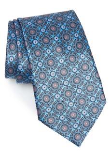 Ermenegildo Zegna Circle Medallion Silk Tie