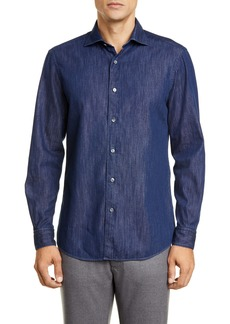 Ermenegildo Zegna Classic Fit Chambray Button-Up Shirt