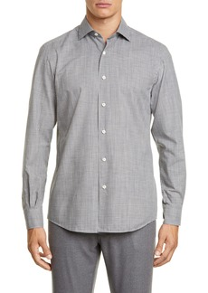 Ermenegildo Zegna Slim Fit Check Button-Up Shirt