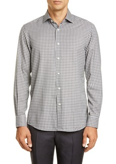 Ermenegildo Zegna Classic Fit Check Button-Up Shirt