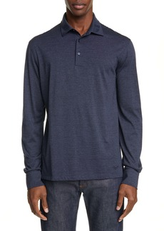 Ermenegildo Zegna Classic Fit Cotton & Wool Long Sleeve Polo