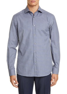 Ermenegildo Zegna Classic Fit Gingham Button-Up Shirt