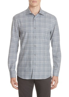 Ermenegildo Zegna Classic Fit Plaid Sport Shirt