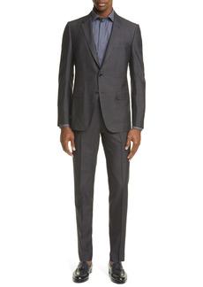 Ermenegildo Zegna Classic Fit Solid Silk & Wool Suit