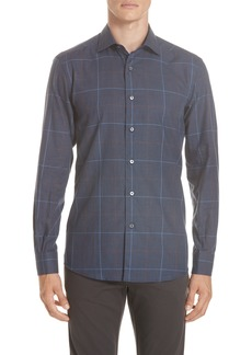 Ermenegildo Zegna Classic Fit Windowpane Sport Shirt