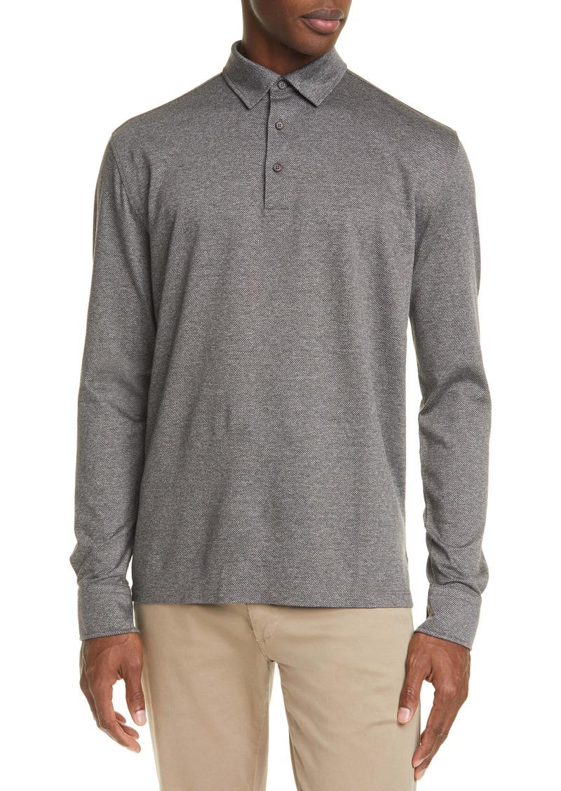 Ermenegildo Zegna Classic Long Sleeve Polo Shirt