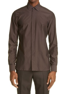 Ermenegildo Zegna Cotton & Silk Button-Up Shirt