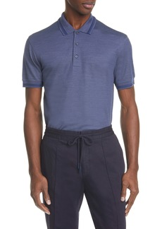Ermenegildo Zegna Cotton & Silk Polo Shirt