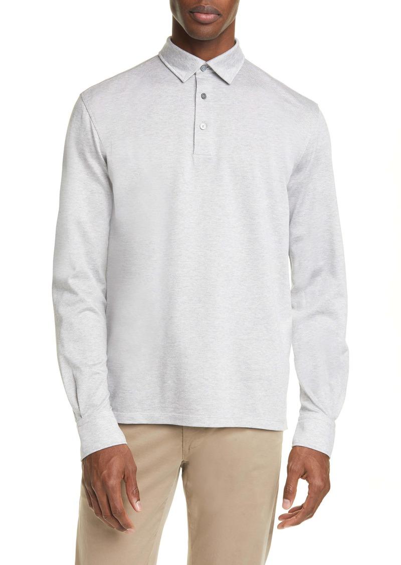 Ermenegildo Zegna Cotton Long Sleeve Polo Shirt