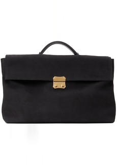 Ermenegildo Zegna Couture Brown Suede Foldable Briefcase