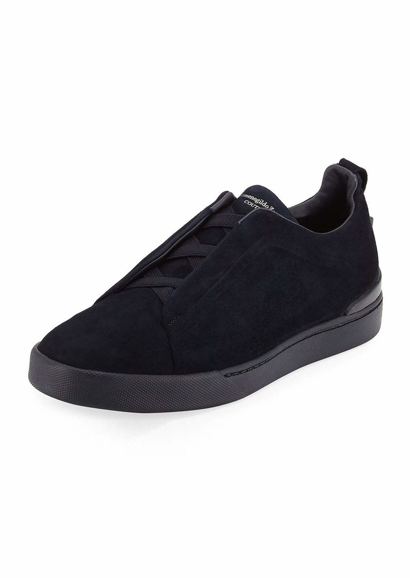 948a91a1 Men's Couture Triple-Stitch Suede Low-Top Sneakers