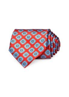 Ermenegildo Zegna Diamond Medallion Silk Classic Tie