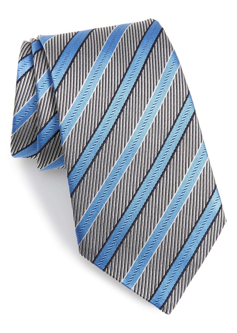 Ermenegildo Zegna Essential Stripe Silk Tie