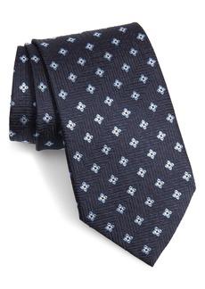 Ermenegildo Zegna Floral Silk X-Long Tie