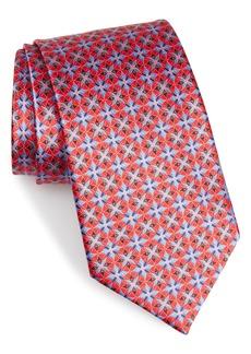 Ermenegildo Zegna Geo Floral Silk Tie