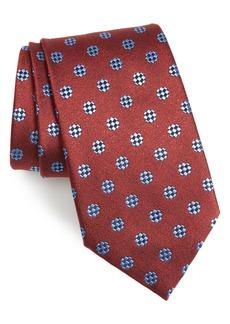 Ermenegildo Zegna Geometric Dot Silk Tie