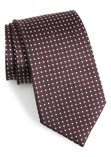 Ermenegildo Zegna Geometric Silk X-Long Tie