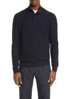 Ermenegildo Zegna High Performance Wool Half-Zip Pullover