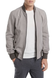Ermenegildo Zegna Leather Bomber Jacket