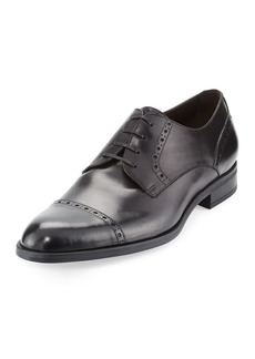 Ermenegildo Zegna Leather Cap-Toe Derby Shoe