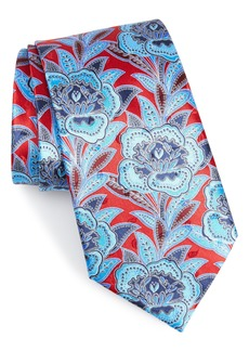 Ermenegildo Zegna Macrofloral Silk Tie