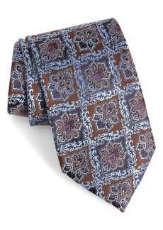 Ermenegildo Zegna Medallion Silk X-Long Tie