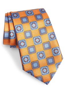 Ermenegildo Zegna Medallion Tile Silk Tie