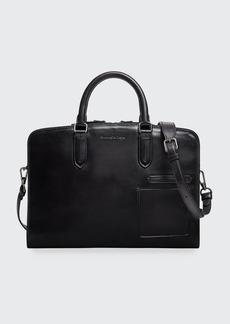 Ermenegildo Zegna Men's Blazer Leather Slim Briefcase