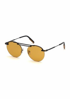 Ermenegildo Zegna Men's Metal Semi-Rimless Sunglasses