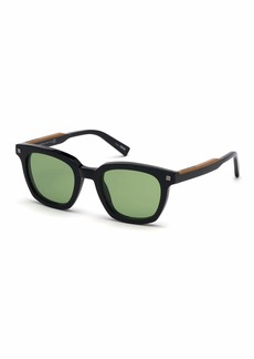 Ermenegildo Zegna Men's Shiny Acetate Sunglasses