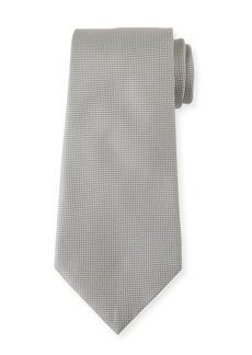 Ermenegildo Zegna Men's Tonal Micro-Check Silk Tie