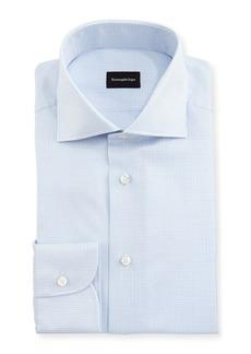 Ermenegildo Zegna Micro-Box Cotton Dress Shirt