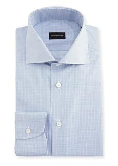 Ermenegildo Zegna Micro-Check Cotton Dress Shirt
