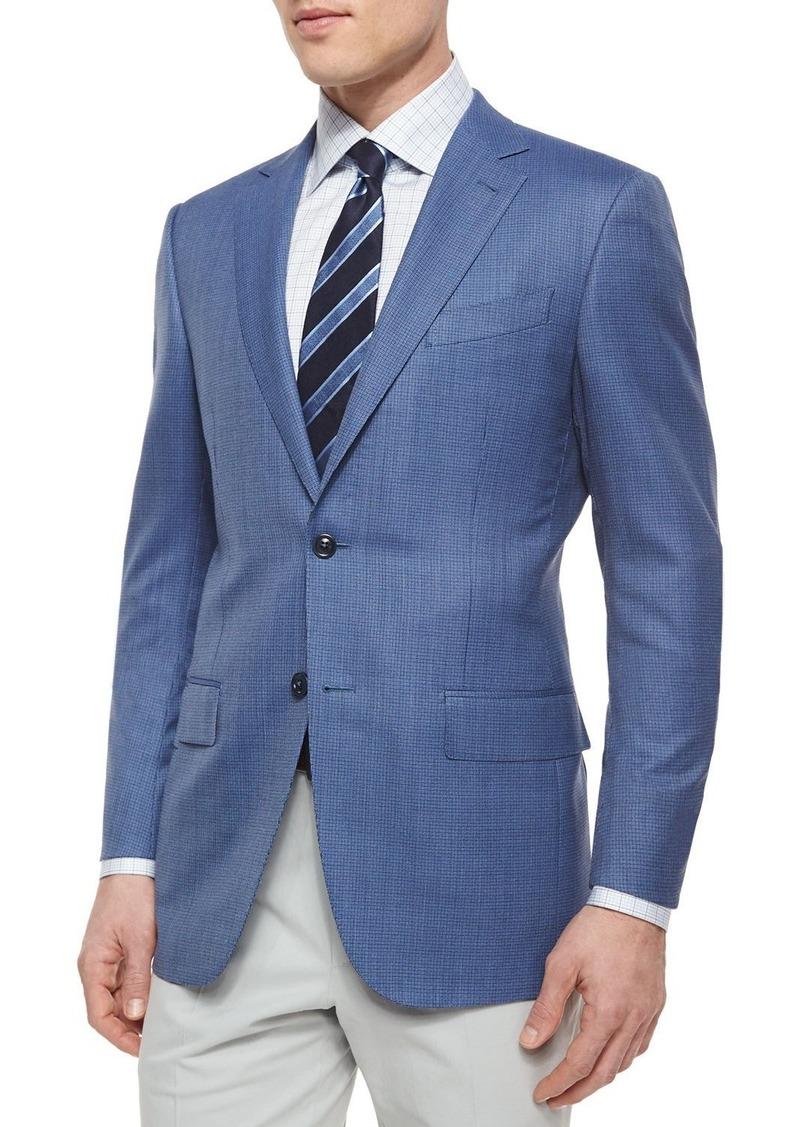 9e595f6a Micro-Check Wool Blazer