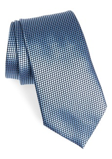 Ermenegildo Zegna Micro Geometric Silk Tie